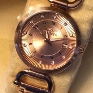 Invicta Womans Rose Gold Watch